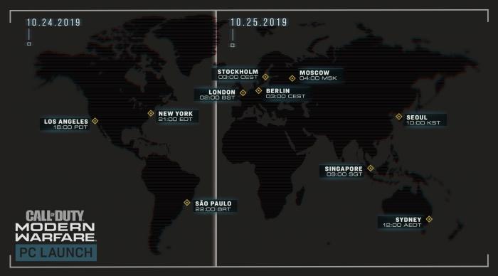 [블리자드] 콜 오브 듀티 모던 워페어 지역별 출시 시간.jpg