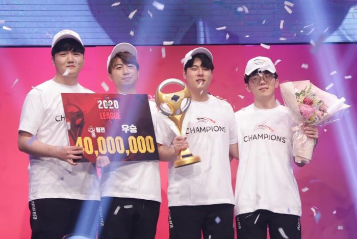 [사진1] 2020 SKT JUMP 카트라이더 리그 시즌1 한화생명e스포츠 팀전 우승.jpg