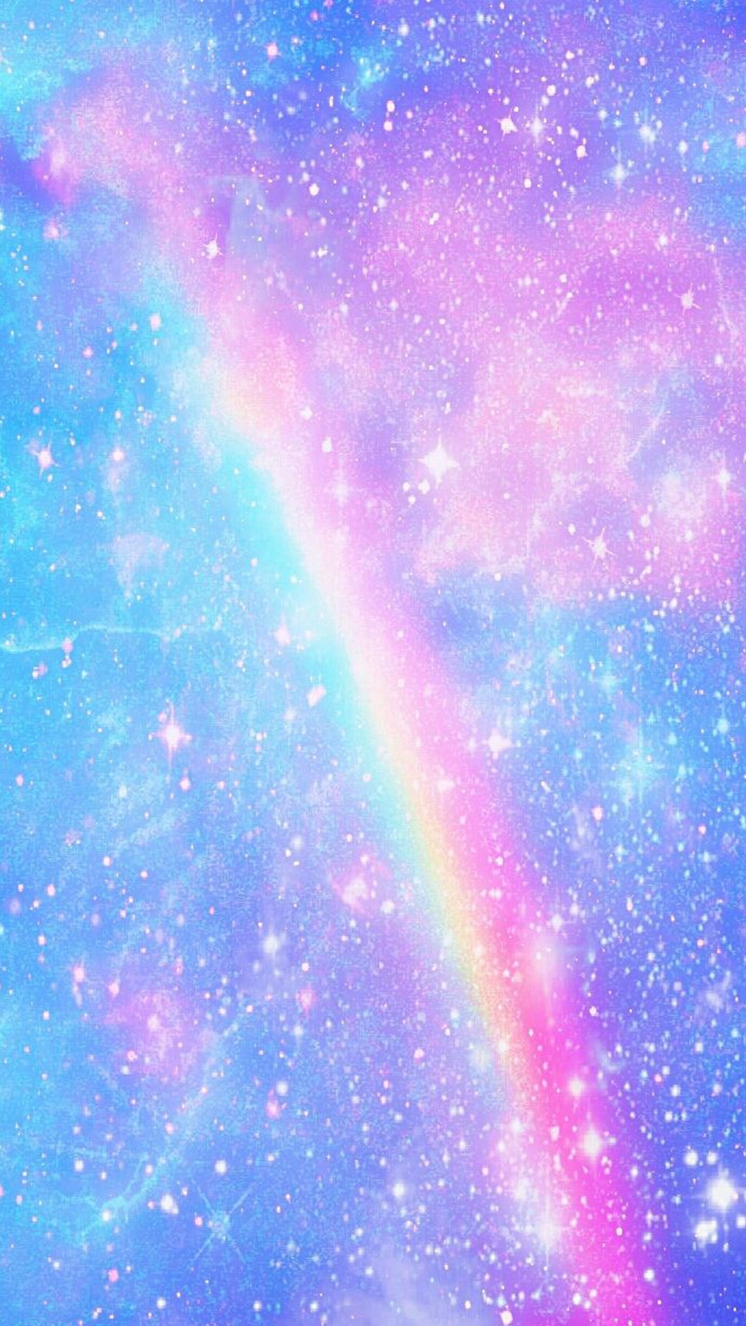 blue cloud with rainbow wallpaper - photo #23