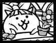 창가의 소녀 고양이